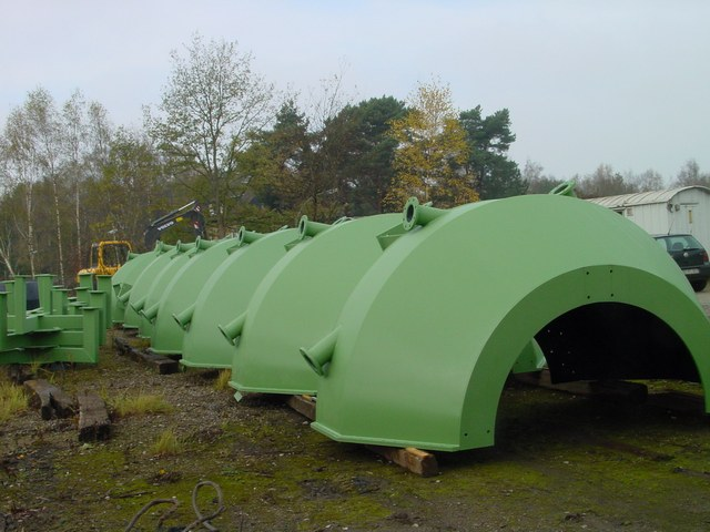 Imhoflot G-36 outer shells prepared for transport to Siberia